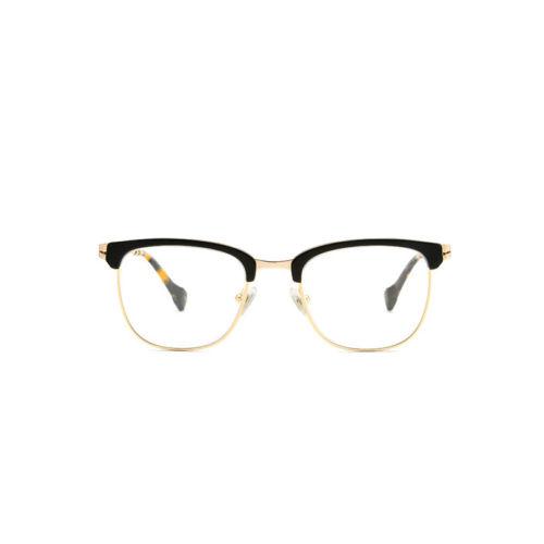 Ottico-Roggero-occhiale-vista-orlando-black-gold-squared-lab-glasses-by-gigi-barcelona-
