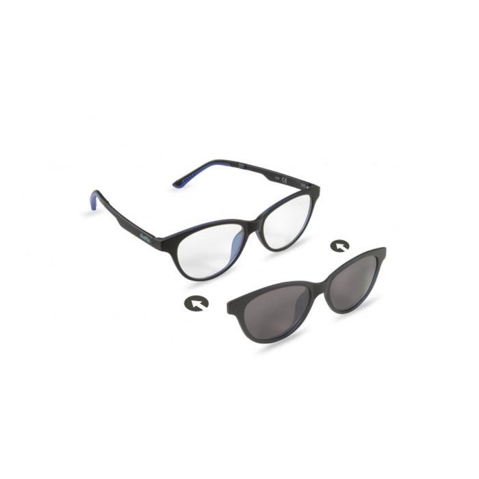 Ottico Roggero occhiale vista-sole ZIEL-Duetto-V49-Nero-Blu