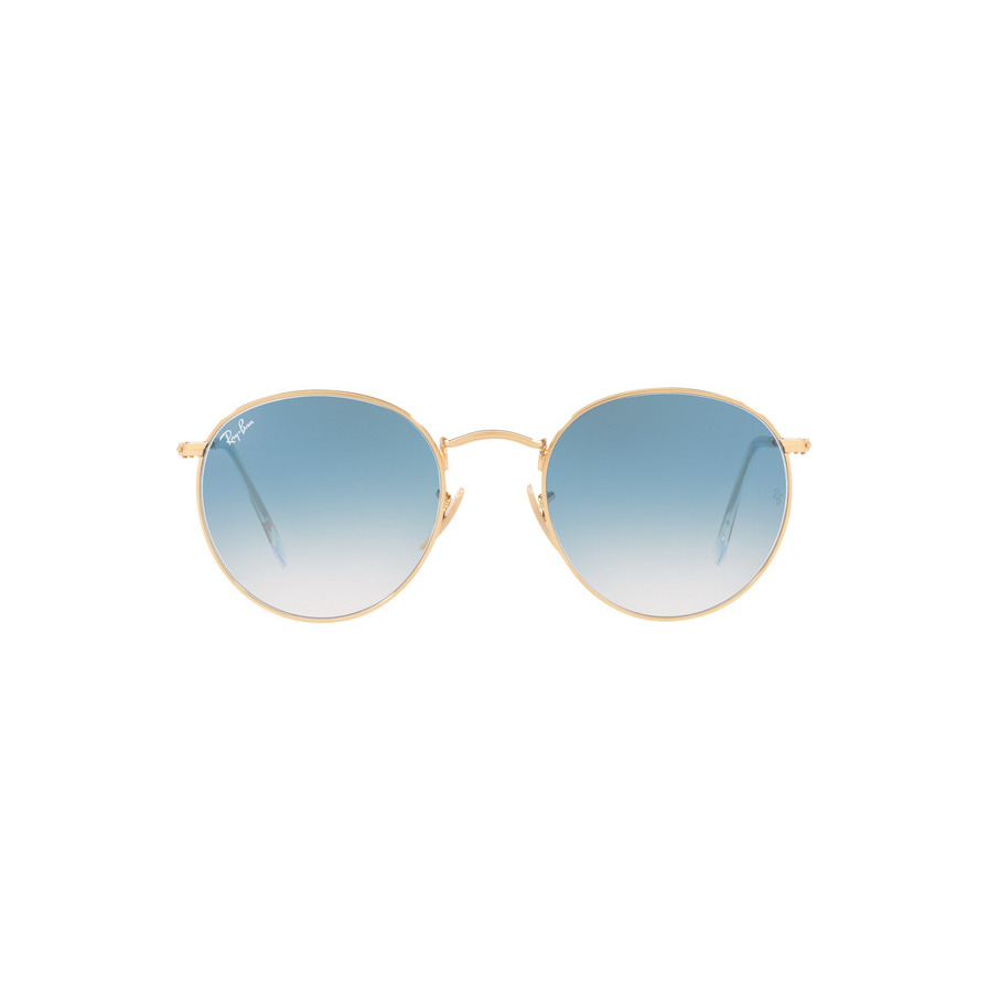 Ottico-Roggero-occhiale-sole-ray-ban-RB447-oro-lente-azzurra