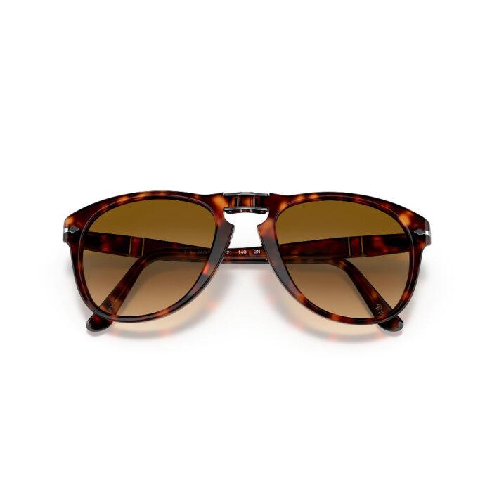 Ottico-Roggero-occhiale-sole-Persol-PO714S-tarta-brown-folding-front