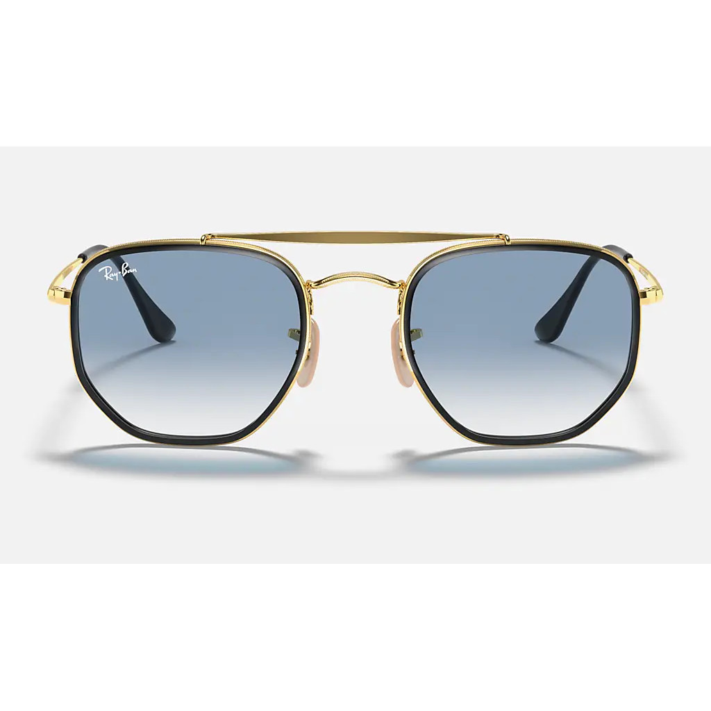 Ottico-Roggero-occhiale-sole-ray-ban-RB3648-Marshal-II-Sfumato-oro-front