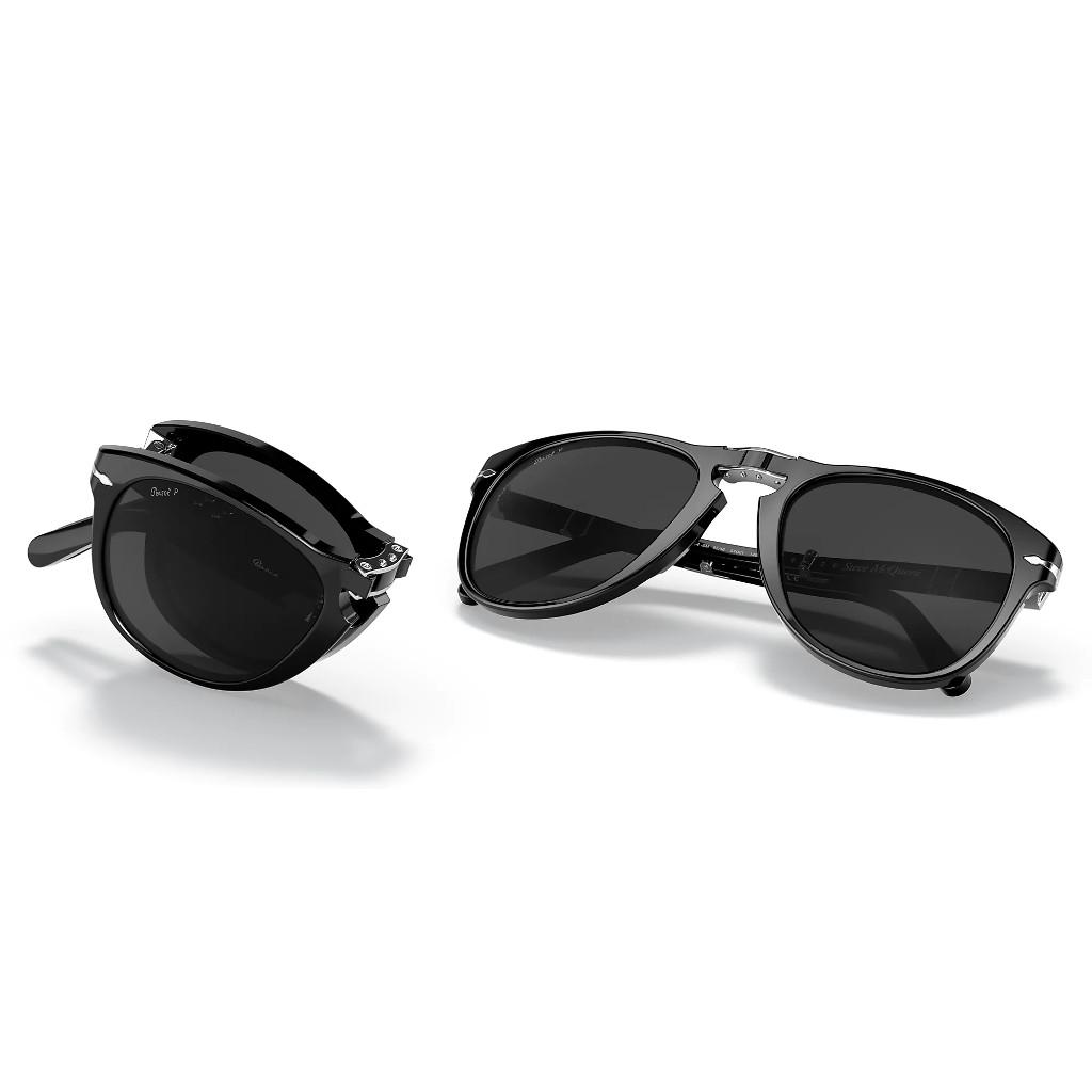 Ottico-Roggero-occhiale-sole-persol-Steve-McQueen-Po714-black-front