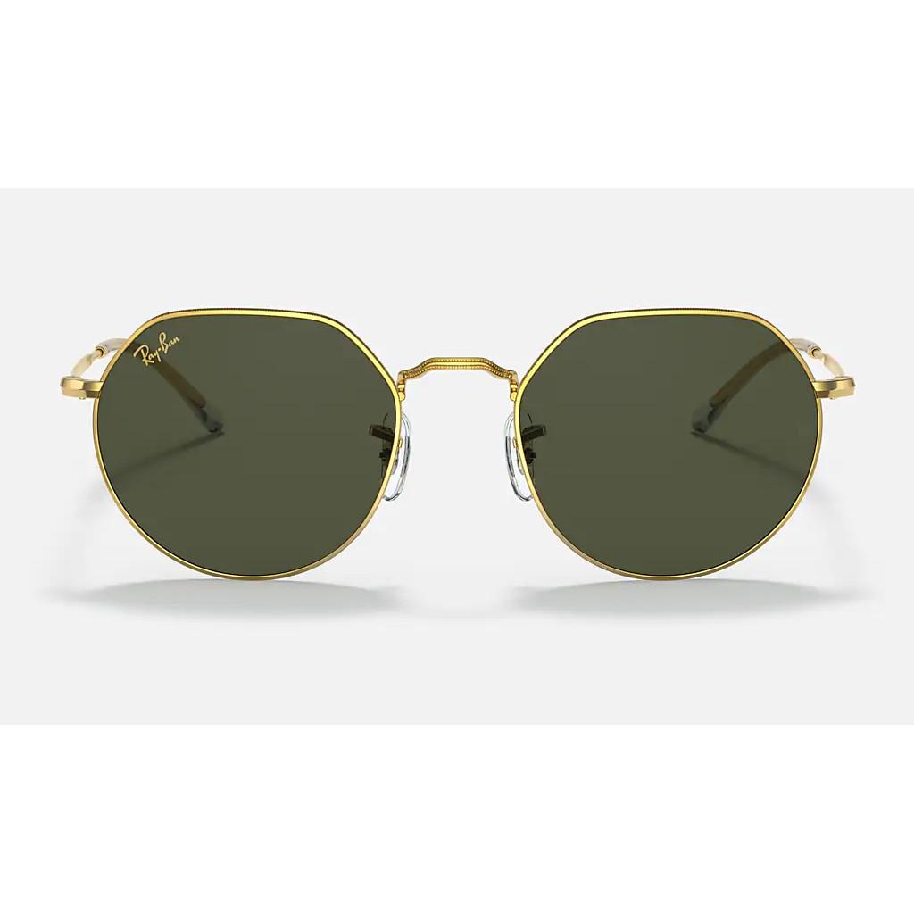 Ottico-Roggero-occhiale-sole-Ray-Ban-RB3565-Jack-gold-lente-green-front