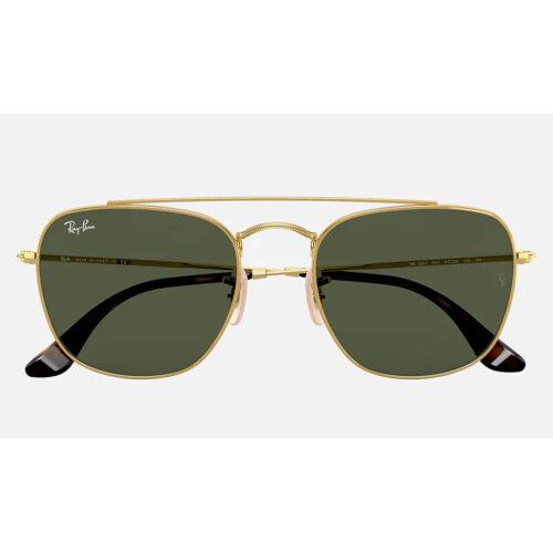 Ottico-Roggero-occhiale-sole-ray-ban-RB3557-oro-lenti-verdi-front