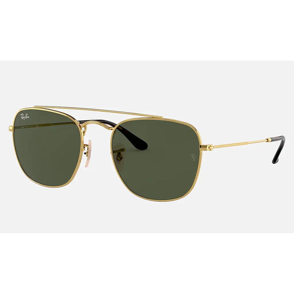 Ottico-Roggero-occhiale-sole-ray-ban-RB3557-oro-lenti-verdi