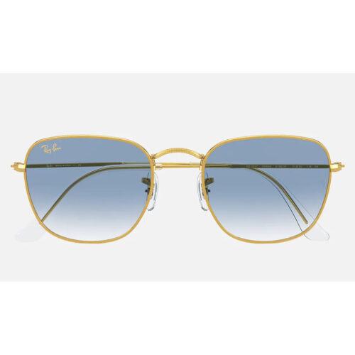 Ottico-Roggero-occhiale-sole-ray-ban-RB3857-oro-lenti-azzurre-sfumate