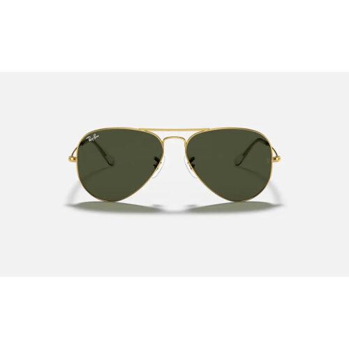 Ottico-Roggero-occhiale-sole-ray-ban-rb-3025-oro-lenti-verdi-front.