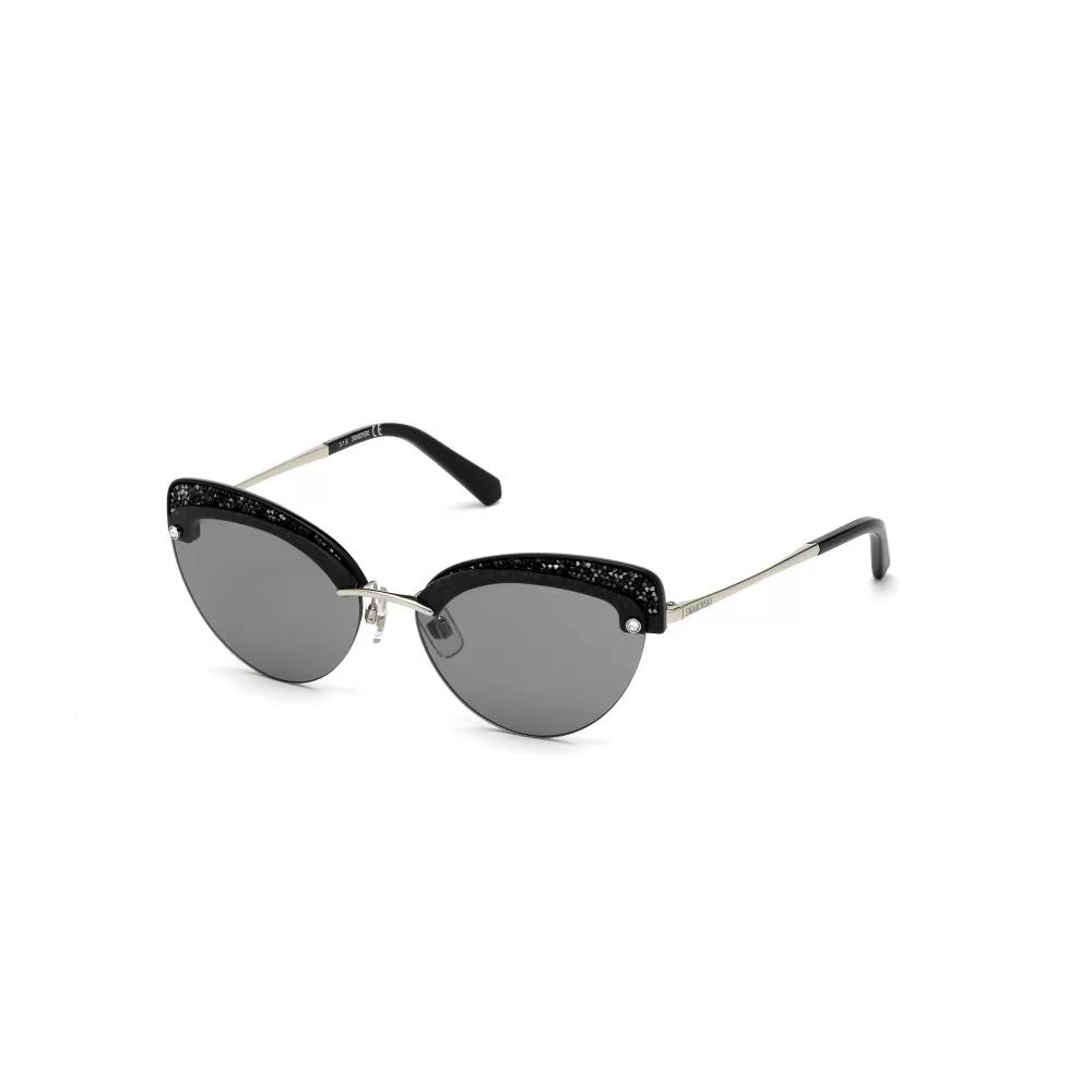 OtticoRoggero-occhiale-sole-swarovski-sk0257-16a-shiny-palladium