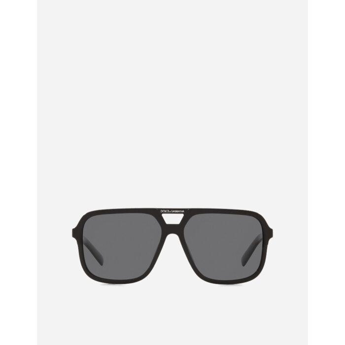 Ottco-Roggero-occhiale-sole-Dolce-and-Gabbana-DG4354-black-front.