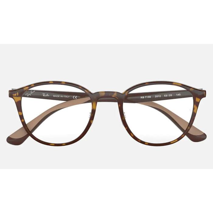 Ottico-Roggero-occhiale-VISTA-rayban-RX7156-brown-front